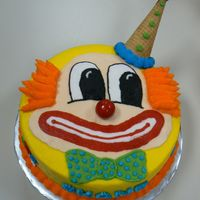 Clown Cake This is a cake I made for one of my co-workers. He is deathly afraid of clowns. We all thought we was going to freak out it but he loved...