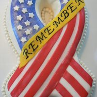 Remember 9-11-01 This is a cake I made to remember the many lives that were lost on September 11th.