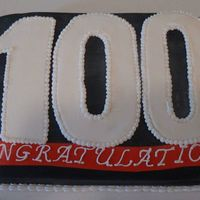 100Th Client This cake was for some friends that just got their 100th client. Congrats!!