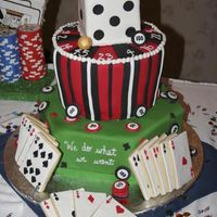 Casino Cake Did this cake for my DH's boss's birthday. I got the idea from one of the reader submissions in American Cake Decorating this...