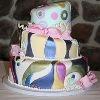 1St Topsy Turvy Cake  I did this for my friend's 30th birthday. I was my first attempt at a topsy turvy cake and totally based on a Collette Peters cake (I...