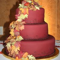Falling Leaves Wedding I loved this wedding! The bride didn't want anything traditional and it was in an old converted barn in the mountains. Rust colored...