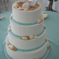 Beach Wedding  My first wedding cake using Sugarshack's icing and methods! Love it love it love it! The bride had the chair toppers and we bought the...