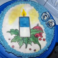 Finlands Independece Day December 6 We celebrate our independece today, and here's a cake for party. :) (In Finland is still december 6, clock is 11.13 PM)
