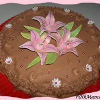 Lily Cake Sugarpaste and buttercreme.