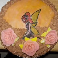 Fairy Cake My neightbour ask me to come visit and bring some cake with me. So, i did this. Picture is painted on marzipan. This is third cake that i&#...