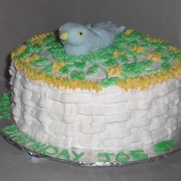 My_Bird_Cake.jpg For a birdwatcher's birthday. Yellow cake, raspberry filling. All buttercream & fondant bird. My first time working with fondant....