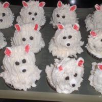 "Puppy Cakes Thanks to the book ""Hello Cupcake"" for this design. Made for a school bake sale. Inpatient as usual - the longer it took, the..."