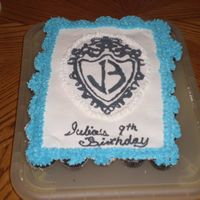 Jonas Brothers Cupcake Cake This is a cupcake cake I made to celebrate my daughter's birthday in school. Buttercream transfer used for Jonas Brother's logo....