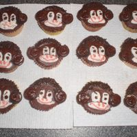 Monkey Cupcakes Thanks again to the book Hello Cupcake for the idea for these. Chocolate icing, jimmies for the hair, mini Oreo halves for the ears with...