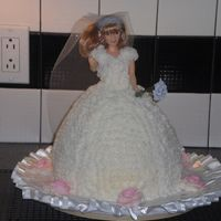 Doll Bridal Cake   Simple doll cake all in white using Wilton Wonder Mold Pan.