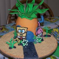 Pineapple Under The Sea Its Spongebob's House! Made for a good friend's son's first birthday. This was his personal smash cake. The pineapple was...