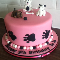 Puppy Dog Cake this is similar to another cake i found on flicker. puppy's were made from gumpaste