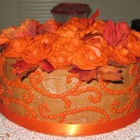 Thanksgiving Cake Close Up The leaves are silk, well washed :)