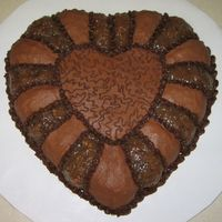 Chocolate Heart I made this cake for my mom's birthday last year. She and I both love the coconut pecan filling and I was just going to use it to fill...