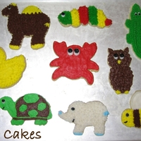 Animal Cookies Made these cookies for fun. They are decorated with buttercream using different techniques. Thanks for looking! :)