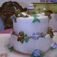 Teddy Bear Birthday Party Cake  This cake was for my moms birthday. She loves bears! The bottom cake is spice cake and the top is strawberry. Teddy Bears and presents,...