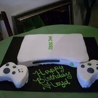 Xbox 360 Cake This was a cake made for my husbands birthday. Everything was bc except for the details on the controllers.