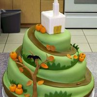 Fall Wedding Cake Another spiraling path cake. I added the bat and slug as an inside joke. :) This was a fun cake to do!I posted the instructions on how to...