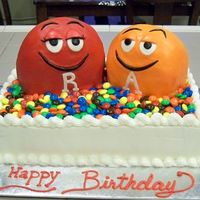 "R & A Cake! This was a chocolate cake for my son and me! The ""R"" and ""A"" guys are frosted in buttercream with fondant details. Real..."