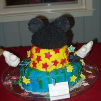 "Mickey Mouse Clubhouse This was my first tiered cake and my first fondant cake. My little girl wanted a ""Hot-Dog"" cake so, I did my very best. I really..."