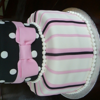Black And Pink Shower Cake