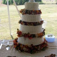 Fall Wedding I wanted to upload a different picture of this cake. It was the first wedding cake I had done. I was also the matron of honor and the...