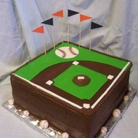Baseball Diamond This was a last minute groom's cake. The mother of the groom called me a week and a half before the wedding and said that the bride...