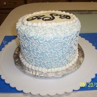 Cornelli Lace With Monogram This is just a side view of the cake. Thanks for looking!