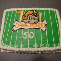 50Th Birthday Cake/ Dawg Pound This one was done for a Dawg Pound fan on his 50th birthday.