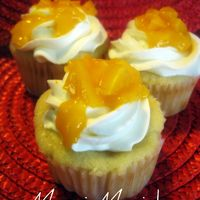 Mango Cupcake This was my experimental cupcake of the week. Mango cupcake with whipped cream cheese frosting, mango puree, and mango chunks for garnish....