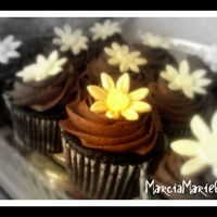 Chocolate Daisy Cupcake  Hershey's Chocolate cupcakes with Chocolate Fudge buttercream and MMF daisies. This recipe is delicious. The best chocolate cake I...