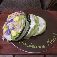 Flower Pot Disaster This cake was for my mom's birthday, coconut flavored and I wanted a really creamy coconut filling between the four layers of cake. I...