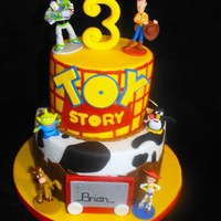 Brian's Toy Story All MMF. Almost the exact same design as another Toy Story cake that is in my gallery.