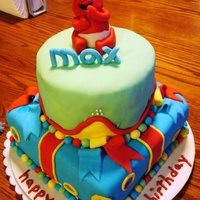Elmo Cake All fondant Elmo Cake for 1st birthday