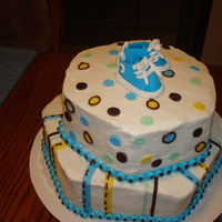 Baby Boy Shower Cake Baby boy cake with shoes