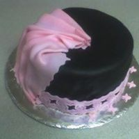 My First Fondant Cake I made this black fondant from wilton's white fondant and a WHOLE jar of black paste (don't try this at home). It was for my...