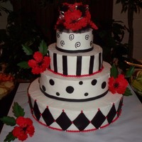 Prom Cake I made this cake for a dance prom Party at chuch, it was bc with mmf accents, I still have lost of work on getting my bc smooth. Poppy...