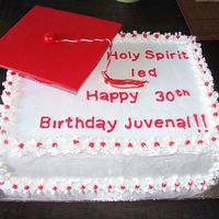 Gradu.jpg this is white cake and whipped icing lemon filling, Decorations are made of fondant and since I'm not good yet making letters I made...