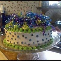 Breeann's 21St Birthday Cake I whipped up this cake using Breeze's favorite colors (blue, green, purple) as my inspiration! I thought it was just a fun looking...