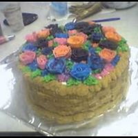 Final Class Cake I took a short basic decorating class, and this was my final project! I frosted the cake to look like a basket and FILLED it with roses!!...