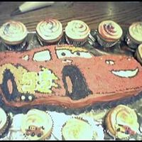 "Tanner's 3Rd Birthday ""cars"" Cake I cheated a bit on this one! I bought the ""Cars"" cake pan, but had a great time decorating it! It seemed a bit small so I made..."