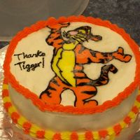 Tigger Vanilla cake with raspberry filling and FBCT