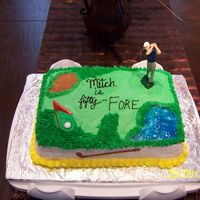 Golf marble cake with buttercream dream frosting