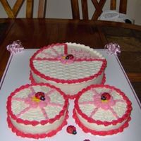 Lady Bug Baby Stroller My sister loved her baby shower cake. Yellow cake with BC icing. Lady bugs are MMF.