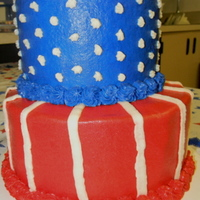 Patriotic Parade Cake   Made this for dauther's school for a Patriotic day parade. They were pleased, but now she wants more cakes!