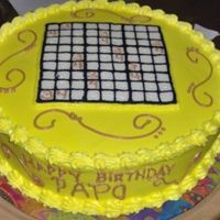 Sudoku Cake  Yellow cake with FBCT. Made this for my brother's 34th birthday, he's a sudoky freak. He loved it. Someone actually thought I had...