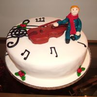 Stradivarius This cake was made for a 6 year old violin student, but chosen by his mother. Everybody loved it except the boy, because he prefered Dragon...
