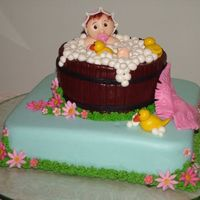 Sweet Bubble Bath This is a caramel cakes all made of fondant.