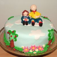 Sweet Ruca And Rosita This is a cake to satisfy a 3 old girl who loves this cartoon character. Her mother loved it, i hope the little girl loved it too.
